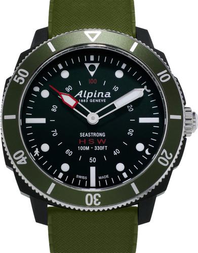 Alpina Seastrong Horological Black / Green Main Image