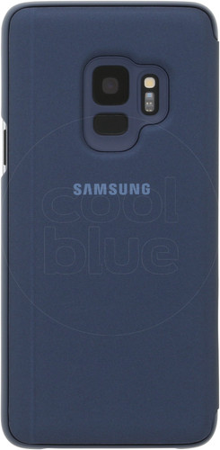 Samsung Galaxy S9 Clear Stand View Cover Blauw Main Image