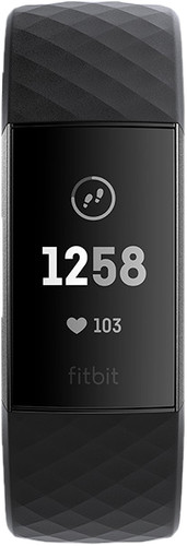 Fitbit Charge 3 Black/Graphite Aluminium Main Image