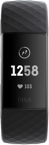 Fitbit Charge 3 Black / Graphite Aluminum Main Image