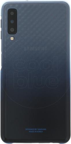 Samsung Galaxy A7 (2018) Gradation Clear Back Cover Blauw Main Image