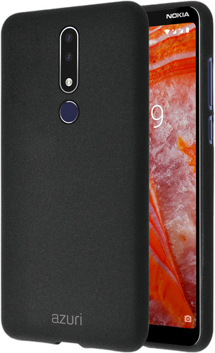 Azuri Flexible Sand Nokia 3.1 Plus Back Cover Zwart Main Image