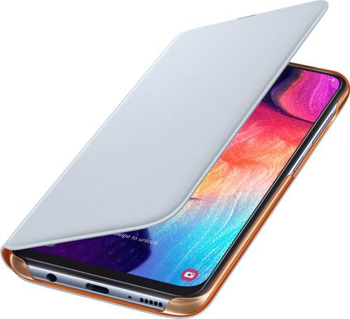 Samsung Galaxy A50 Wallet Book Case Wit/Oranje Main Image