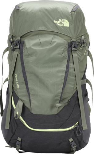 The North Face Women's Terra 55L TNF Dark Grey Heather / New Taupe Green - Slim Fit Main Image