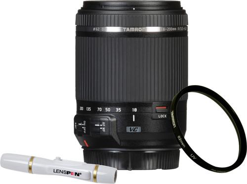 Tamron 18-200mm f/3.5-6.3 Di II VC Canon EF-S + UV-Filter 62mm + Elite Lenspen Main Image