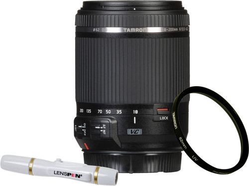 Tamron 18-200mm f/3.5-6.3 Di II VC Nikon F + UV-Filter 62mm + Elite Lenspen Main Image