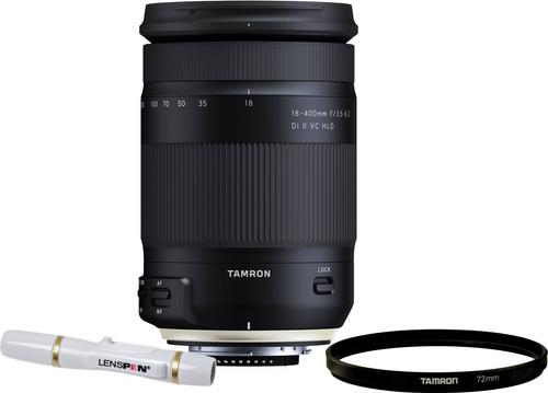 Tamron 18-400mm f/3.5-6.3 Di II VC HLD Canon EF + UV-Filter 72mm + Elite Lenspen Main Image