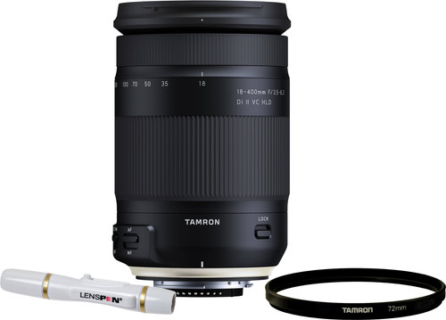 Tamron 18-400mm f/3.5-6.3 Di II VC HLD Nikon F + UV-Filter 72mm + Elite Lenspen Main Image