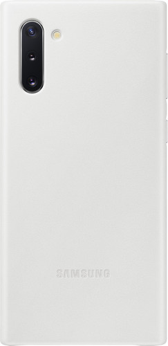 Samsung Galaxy Note 10 Back Cover Leather White Main Image