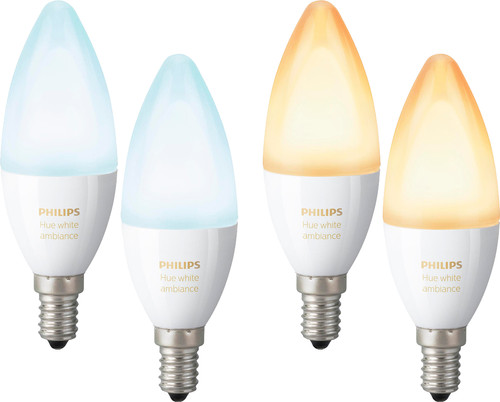 Philips Hue White Ambiance E14 4-Pack Main Image