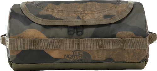 The North Face Base Camp Travel Canister Toiletbag S Burnt Olive Green Woods Camo Print Main Image