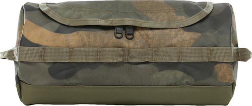 The North Face Base Camp Travel Canister Toiletbag L Burnt Olive Green Woods Camo Print Main Image