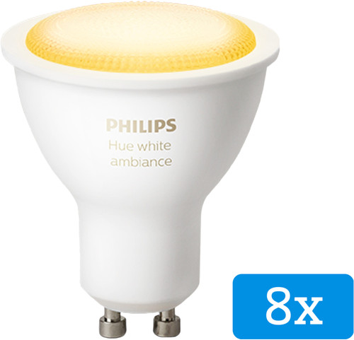 Philips Hue White Ambiance GU10 Bluetooth 8-Pack Main Image