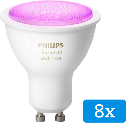 Philips Hue White and Color GU10 Bluetooth 8-Pack Main Image