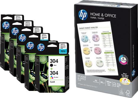 HP 304 Cartridges Combo Pack + 500 vellen A4 papier Main Image