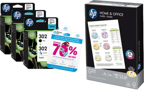 HP 302 Combo Packs + 500 sheets Main Image
