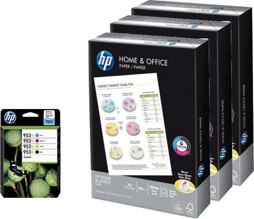 HP 953XL Cartridges Combo Pack + 1.500 vellen A4 papier Main Image