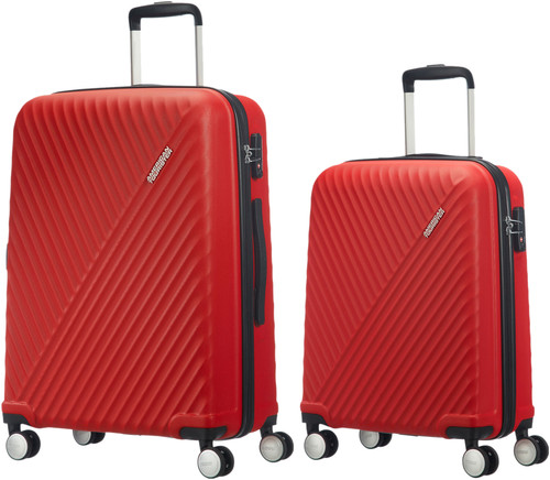 American Tourister Visby Spinner 55cm Red + 76cm Red Suticase Set Main Image