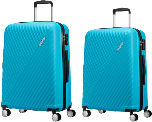 American Tourister Visby Spinner 55 + 76cm Light Blue Suitcase Set Main Image