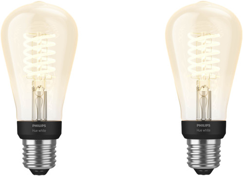 Philips Hue Filament Light White Edison E27 Bluetooth Duo Pack Main Image