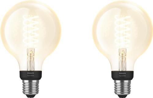 Philips Hue Filament Light White Globe E27 Bluetooth Duo Pack Main Image