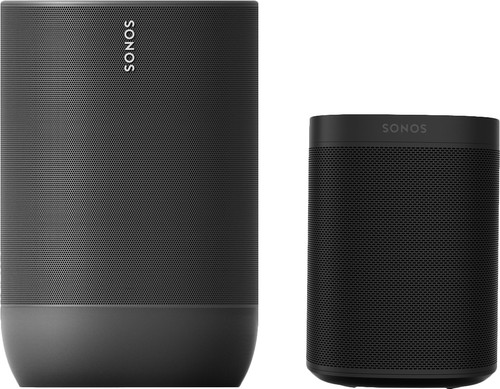 Sonos Move Black + Sonos One Black Main Image