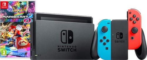 Nintendo Switch (2019 Upgrade) Rood/Blauw Mario Kart Bundel Main Image