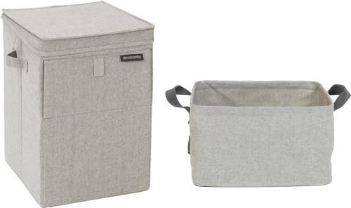 Brabantia Wasbox Grey + Wasmand Opvouwbaar 35 liter Main Image