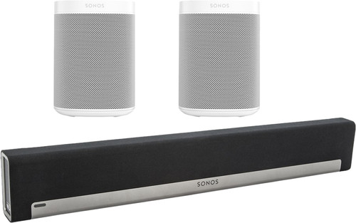 Sonos Playbar 5.0 + One SL (2x) White Main Image