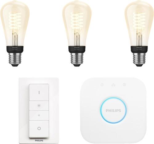 Philips Hue Filamentlamp White Edison E27 Bluetooth Starter Pack Main Image