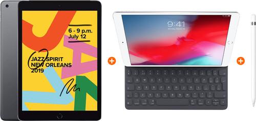 Apple iPad (2019) 128 GB Wifi Space Gray + Smart Keyboard + Pencil Main Image