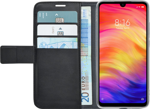 Azuri Wallet Magneet Xiaomi Redmi Note 7 Book Case Zwart Main Image