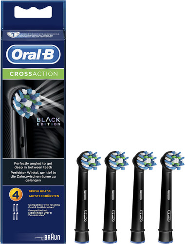 Oral-B Cross Action zwarte opzetborstels (4 stuks) Main Image