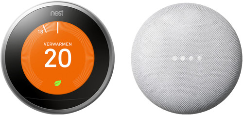 Nest Learning Thermostat V3 + Google Nest Mini Wit Main Image