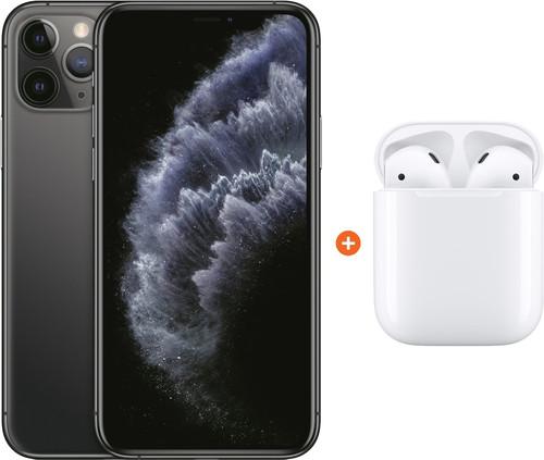 Apple iPhone 11 Pro 256 GB Space Gray + Apple AirPods 2 met oplaadcase Main Image
