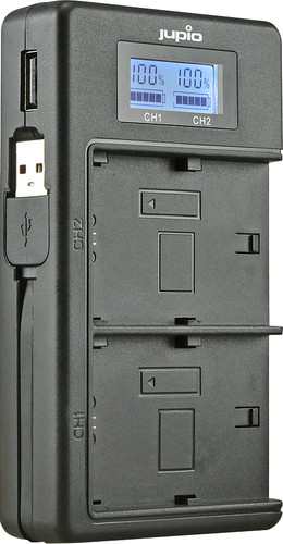 Jupio USB Duo Charger LCD voor Nikon EN-EL14(A) Main Image