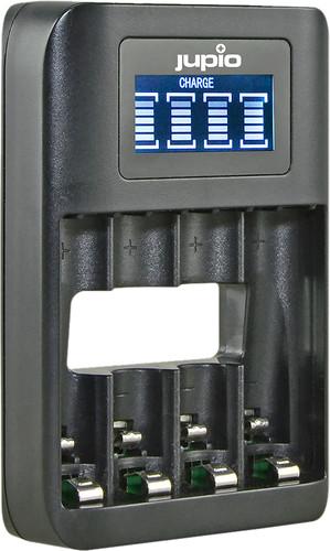 Jupio USB 4-slots Battery Fast Charger LCD Main Image