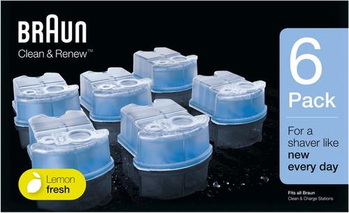 Braun Cleaning Fluid Clean & Renew Cartridges (6 units) Main Image