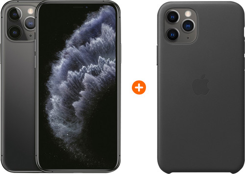 Apple iPhone 11 Pro 64 GB Space Gray + Apple Leather Back Cover Main Image
