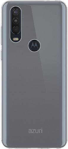 Azuri TPU Motorola One Action Back Cover Transparant Main Image