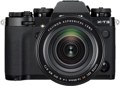 Fujifilm X-T3 Black + XF 16-80mm f/4 R OIS WR Black Main Image