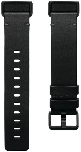 Fitbit Charge 4 Leather Strap Black Size L Main Image