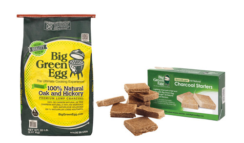Big Green Egg Premium Houtskool 9 kg + Aanmaakblokjes Main Image