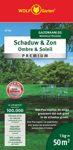 Wolf Garten Grass Seed Shade and Sun Lawn 50m² LP 50 Main Image