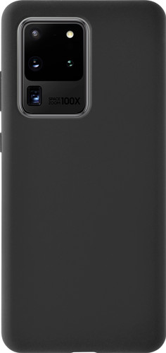 Azuri Samsung Galaxy S20 Ultra Back Cover Siliconen Zwart Main Image