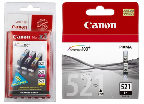 Canon CLI-521 Cartridges Combo Pack Main Image