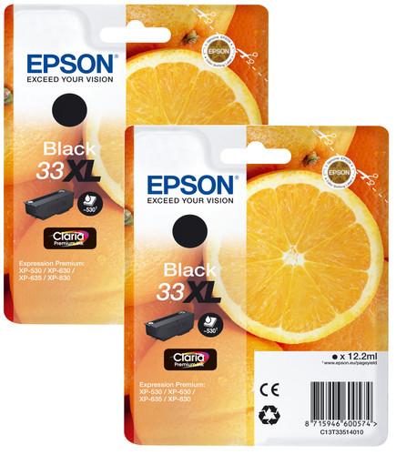 Epson 33XL Cartridge Black Duo Pack Main Image