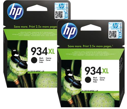 HP 934XL Cartridges Zwart Duo Pack Main Image
