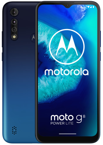 Motorola Moto G8 Power Lite 64GB Blauw Main Image