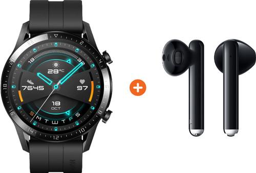 Huawei Watch GT 2 Zwart 46mm + Freebuds 3 Zwart Main Image